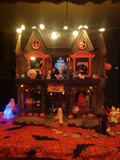 Old dollhouse into Halloween haunted house