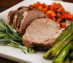 Garlic Herb Crusted Pork Tenderloin