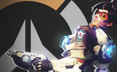Download wallpapers Tracer, cyber warrior, characters, Overwatch