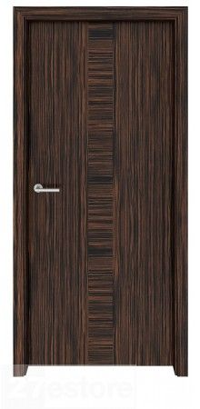 Add a dramatic entry for a bedroom, living area or game room with our Ebony Macassar Wood Interior Door Meridian   #ebony #room #interior #doors