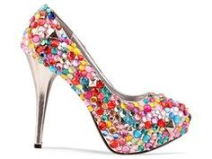 Haus Of Price Multi Gem Pump - Multi    Totally something my crafty hands want to get in on.