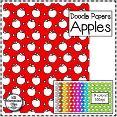 Apple Doodle Papers for Back to School! $ https://www.teacherspayteachers.com/Product/Apple-Doodle-Papers-for-Back-to-School-2006985