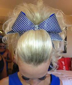 The bigger the hair the closer to Makeup Geek, Crazy Makeup, Makeup Art, Cheer Stunts, Cheerleading, Adventure Time, Cheer Ponytail, Cheer Makeup, Competition Hair