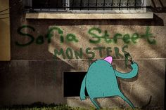 #SofiaMonsters. Lazy Monsters Take Over Sofia, Bulgaria. Photos by Atanas Kutsev and #illustrations by Tochka.