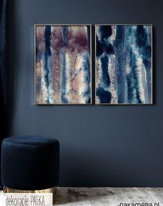 Abstrakcja - KOMPLET GRAFIK - 2 SZTUKI - malarstwo - Pakamera.pl Painting, Painting Art, Paintings, Painted Canvas