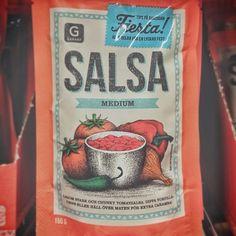 Swedish salsa packaging