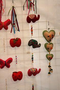 Trabalhos em Feltro feitos para o Bazar da Sogipa