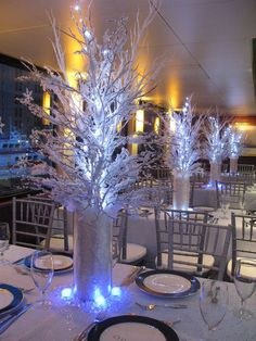 Winter Theme Centerpiece