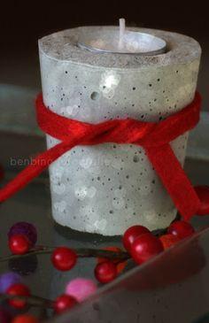www.benbino.com | Beton | DIY | Teelichthalter | Betonarbeiten | Advent | Weihnachten | Anleitung | Tutorial |