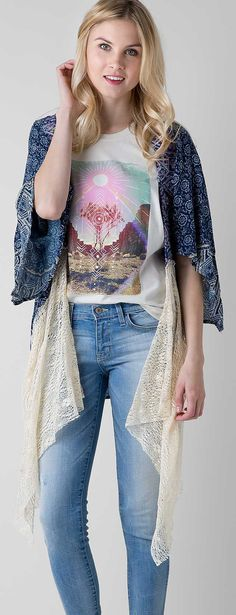 Gimmicks by BKE Printed Cardigan - Women's Over-pieces/Cardigans | Buckle