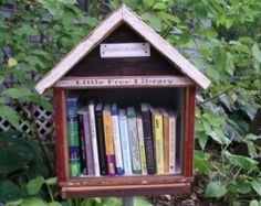 """What a cool idea!  Start a neighborhood """"free library"""" at each home..."""