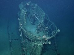 This image made from the A Tale of Two Wrecks: U-166 and SS Robert E. Lee video shows the conning tower on the U-166 U-boat which san...