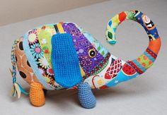 patchworkowy słoń multi colour