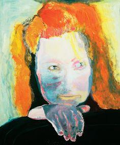 """Marlene Dumas's self-portrait """"Evil Is Banal,"""" 1984."""