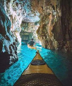 クロアチア、プアでカヤッキング Never had a desire to go to Croatia . This changes things a bit. (Cave kayaking in Pula, Croatia) Best Honeymoon Destinations, Travel Destinations, Vacation Places, Amazing Destinations, Dream Vacations, Winter Destinations, Fun Places To Travel, Time Travel, Japan Honeymoon