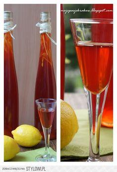 nalewka cytrynowo-truskawkowa Cocktail Drinks, Alcoholic Drinks, Beverages, Polish Recipes, Irish Cream, Hot Sauce Bottles, Healthy Drinks, Coleslaw, Smoothies