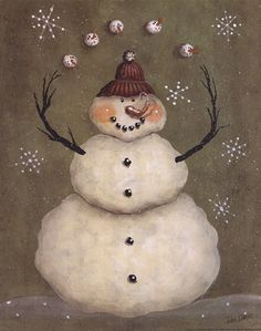 Look at the snow balls he is juggling!