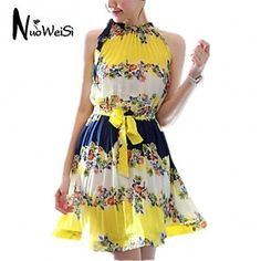 NUO WEI SI®   Women's All Match Floral Print Long Sleeve Dress – USD $ 10.99
