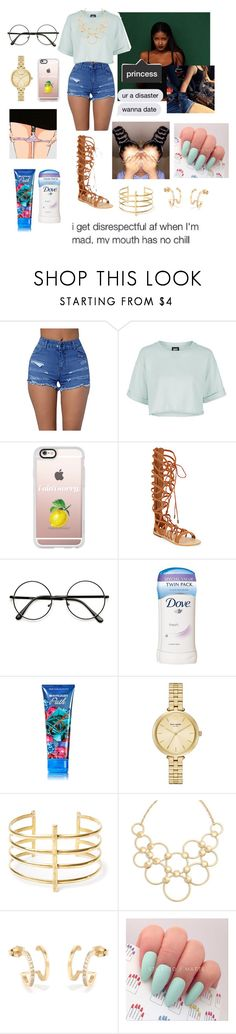 """""""Mami is going to steal me for tonight 😂~Layla"""" by red-velvet-anons ❤ liked on Polyvore featuring Topshop, Casetify, Schutz, Dove, Kate Spade, BauXo and Vera Bradley"""