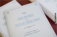 blue wedding programs | VIA #WEDDINGPINS.NET