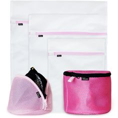 NEW PREMIUM Delicates Wash Bags (SET OF 5) by Miss & Co.- Mesh Garment & Bra Laundry Bag - Large, Medium, Small for Washing Machine/Dryer Lingerie Washer, Baby Clothes, Underwear, Organizer, Travel
