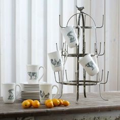 Distressed Chippy Paint Bottle Drying Rack