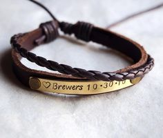 Your place to buy and sell all things handmade Matching Couple Gifts, Cute Couple Gifts, Matching Couple Bracelets, Girlfriend Anniversary Gifts, Leather Anniversary Gift, Wedding Anniversary, Boyfriend Birthday, Bracelets For Boyfriend, Boyfriend Gifts