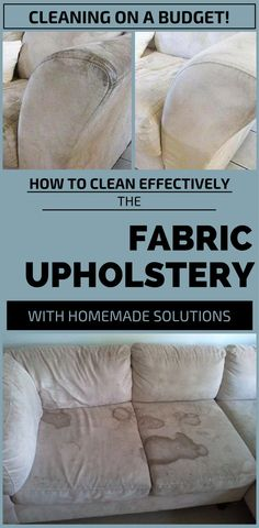 How To Clean Effectively The Fabric Upholstery With Homemade Solutions - getCleaningTips.net