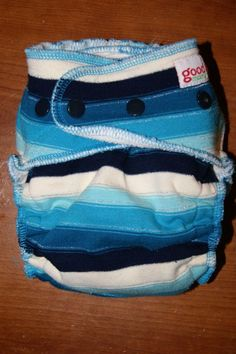 Goodmama Winter Blues OBV fitted diaper