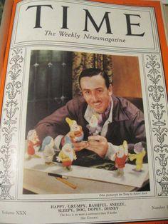 Time magazines(bound) Oct-Dec 1937 Walt Disney-Snow White & the 7 dwarfs