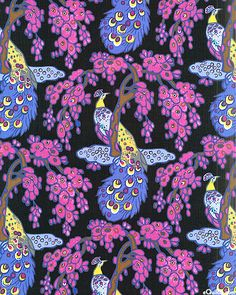 Peacocks in a different palate.....hmm  Benedictus - Peacock Extravagance - Black