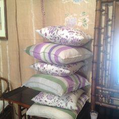 Cuscini lino dipinti a mano