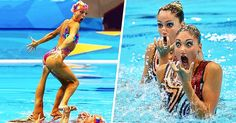 These 15photos ofsynchronized swimmers' faces will totally make your day