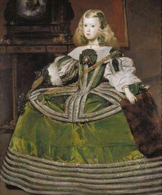Two versions of a portrait of Infanta Margarita Teresa of Spain by Juan Bautista del Mazo, c. Infanta Margarita, Spanish Costume, Potrait Painting, 17th Century Fashion, Old Portraits, Spanish Art, Historical Costume, Museum Of Fine Arts, Renaissance