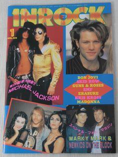 INROCK JAPAN Magazine JAN/1993 GUNS N' ROSES/MICAHEL JACKSON/MADONNA/BON JOVI