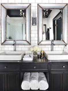 Antiqued Bathroom Vanity - Contemporary - bathroom - HGTV