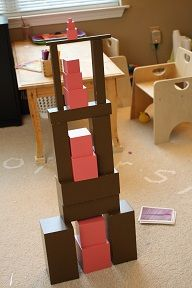 Montessori pink tower/brown stair extensions