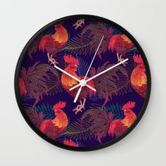 2017 Rooster year  Wall Clock