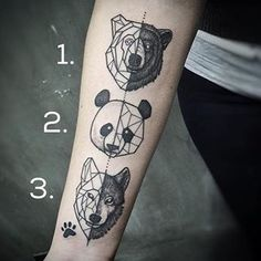 This tattoo for indecisive animal lovers. | 23 Tattoos For People Who Just Fucking Love Animals