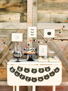 halloween party table ideas