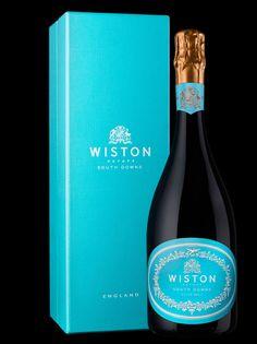 Winston sparkling wine, designed by Stranger & Stranger. Love the turquoise label.