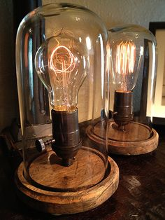 edison desk lamps- look for specialty bulb sites for these old-timey bulbs