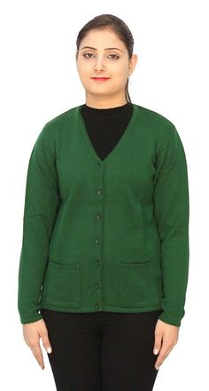 Romano Basic Green 100% Wool Warm Winter Sweater Cardigan For Women >>> Quickly view this special deal, click the image : Women's Fashion for FREE