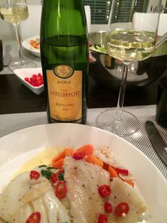 Halibut with riesling