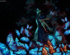 alice madness returns blue butterflies - Google Search