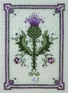 cross stitch thistle | The Sweetheart Tree Tiny Thistle Cross Stitch Pattern