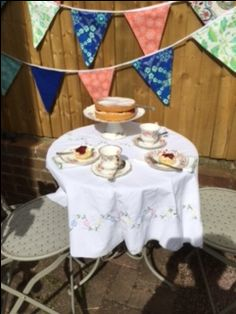 Afternoon tea on the terrace on a sunny afternoon. Yum!