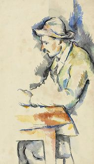 """A Card Player"" (1892-96), a watercolor study by Cézanne, has turned up in a private collection. For nearly six decades a Cézanne watercolor depicting Paulin Paulet, a gardener on the artist's family estate near Aix-en-Provence, was familiar to scholars only as a black-and-white photograph. No one knew if the actual work, a study for Cézanne's celebrated ""Card Players"" paintings, still existed and, if it did, who owned it."