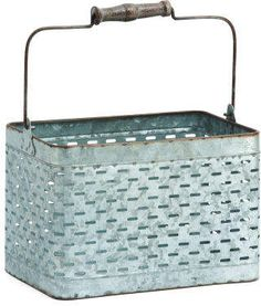 Keep your stuff organized in this galvanized metal storage basket. Would look good in your farmhouse or rustic decor and help you stay organized! Storage Baskets, Storage Organization, Country Decor, Rustic Decor, Galvanized Metal, Staying Organized, Vintage Farmhouse, Rustic Design, Tj Maxx