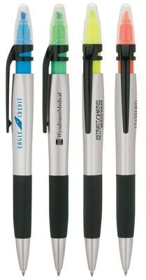 $0.99/Each Promotional Basics Plastik Dani Ballpoint Pen and Highlighter | Promotional Plastic Pens | Promotional Products